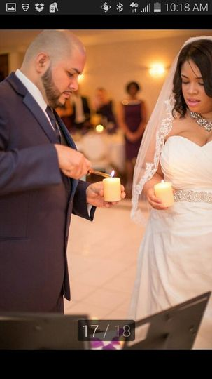 DaMeka and Stuart lit candles in memory of their moms. That was a very special moment in their...