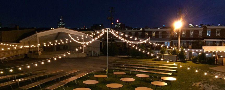 Outdoor space showing standard evening lighting