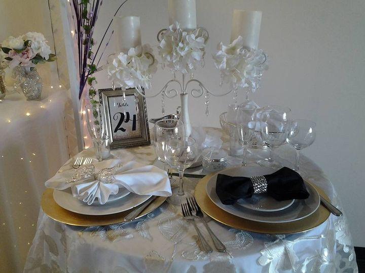 Tmx 1480518314385 Sample Table Setting With Beautiful Overlay Napkin Baltimore, MD wedding venue
