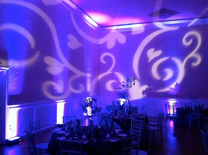 Wedding lighting at Elk Grove Event Center. www.elkgroveeventcenter.com