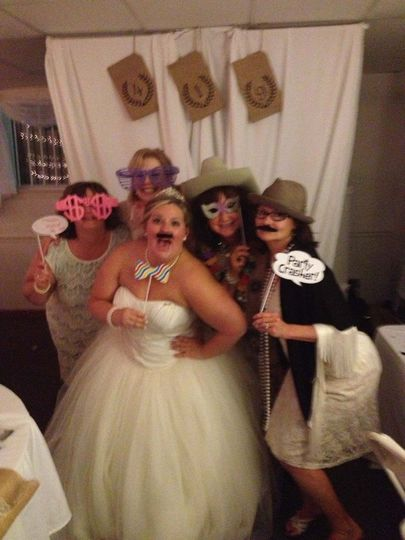 The bride with her guests