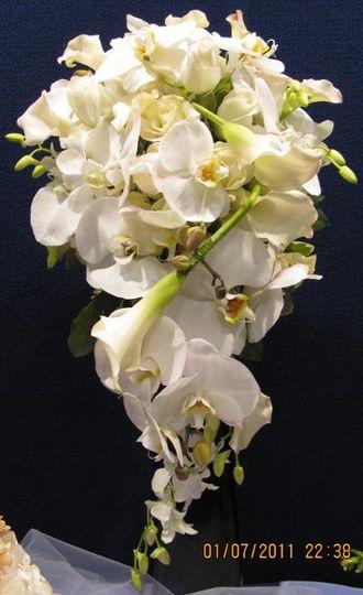 White orchids bouquet