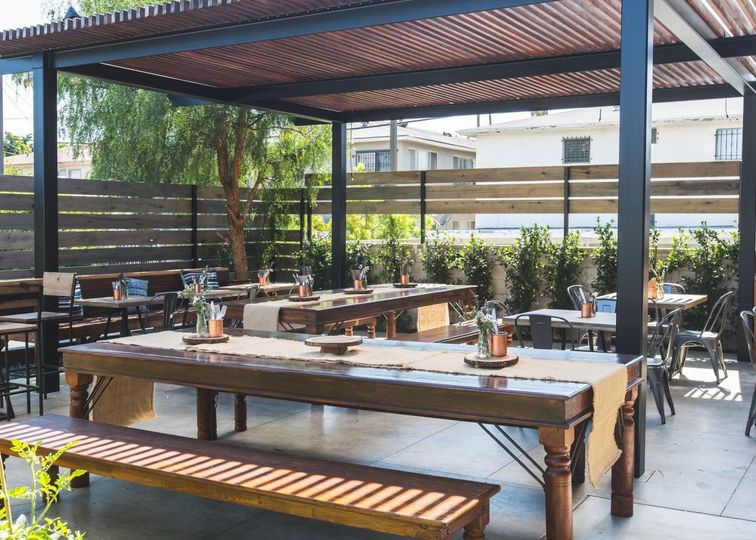 Our oasis-like Patio, perfect for Cocktail Hour