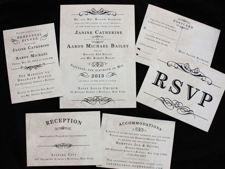 Tmx 1419809938732 Vintage Steampunk Poster Style Antique Wedding Inv Cary wedding invitation