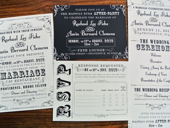 Tmx 1419810012672 Black  White Vintage Steampunk Poster Style Weddin Cary wedding invitation