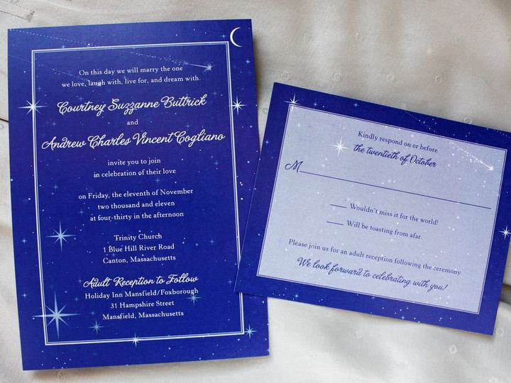 Tmx 1419810256855 Royal Blue And White Celestial Moon And Stars Wedd Cary wedding invitation