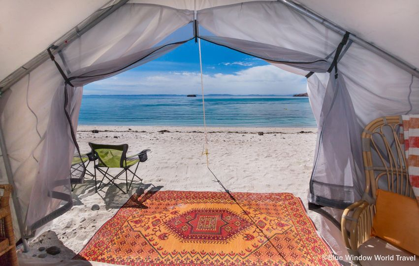 Glamping on a deserted island