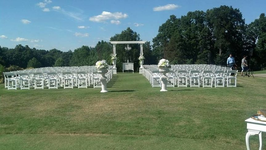 Tee Box Wedding Ceremony