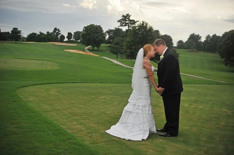 Wedding Picture on Golf Course