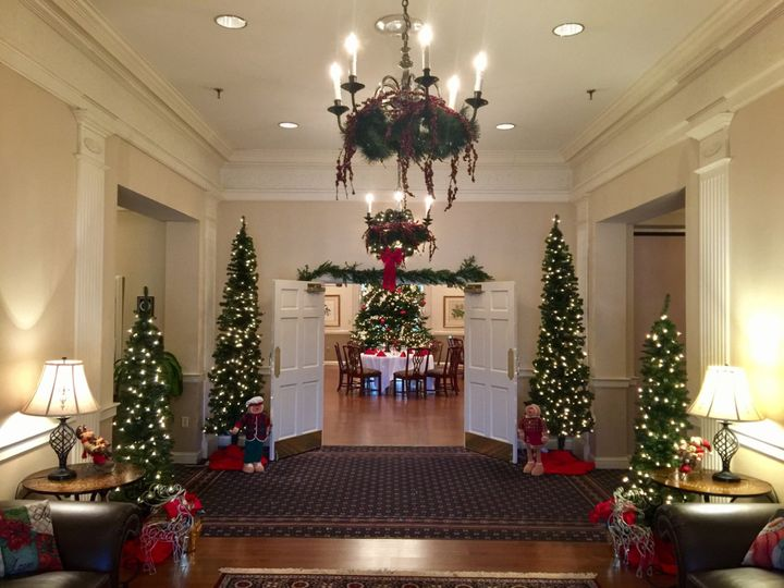 Lobby during Christmas