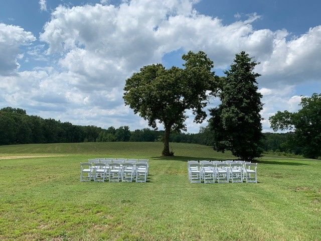 Lawn wedding ceremony.