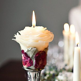 2d94aba831f6d491 beeswax rose candles handmade by forest candle studio