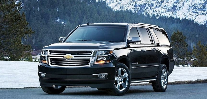 7 Passenger Luxury Suburban and Yukon XLs in our fleet