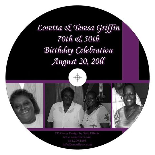 CD Favor - Birthday Celebration