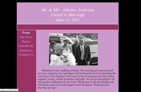 Wedding Website - andersonlagroonwedding.com