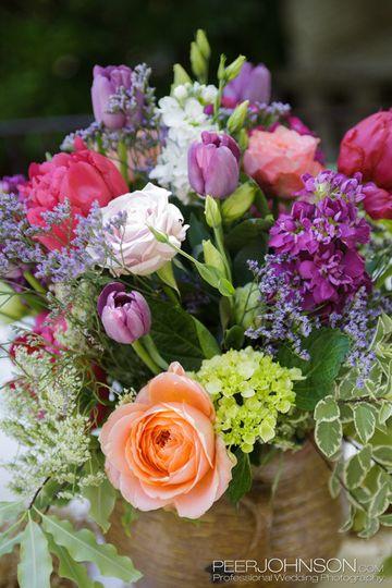 Centerpiece garden wedding