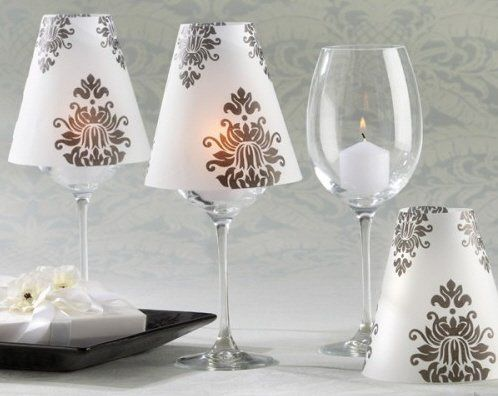 Damask Vellum Shade (pk/24) (Note: Stemmed Glass/votive candle not included)