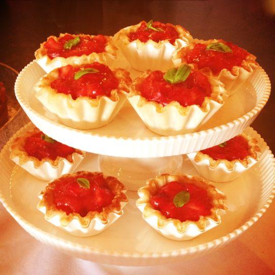 Strawberry mini pie tower