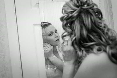 Bride in the dressing room