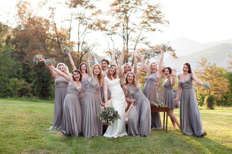 caro and brides maides 1