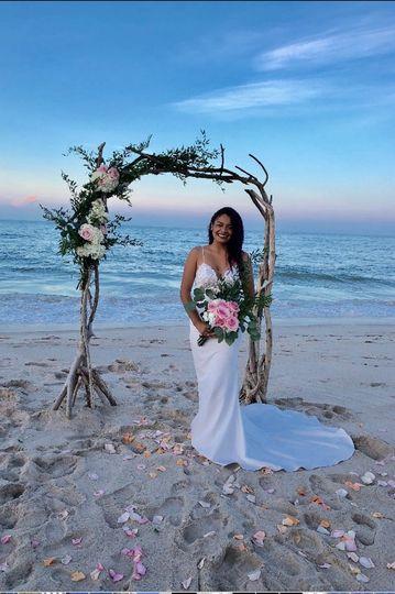 Beach wedding Driftwood Arch