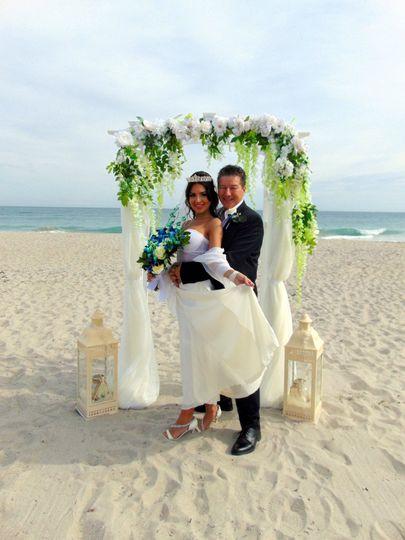 Beach Wedding Indialantic Flor
