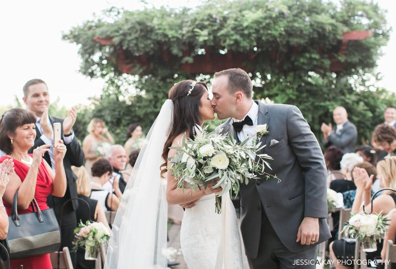 Wedding kiss - jessica kay photography