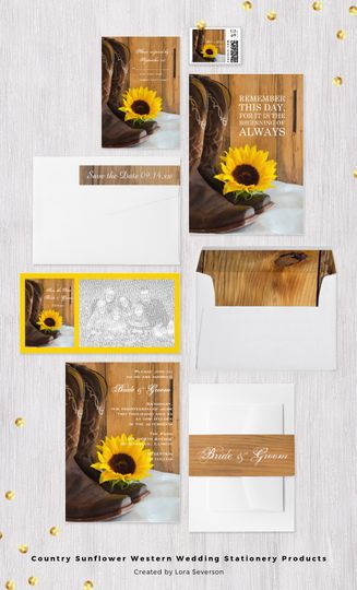 Set a casual yet classy tone for your rustic chic marriage ceremony and reception with the charming...