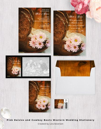 Set an informal yet elegant tone for your rural ranch theme marriage ceremony and reception with the...