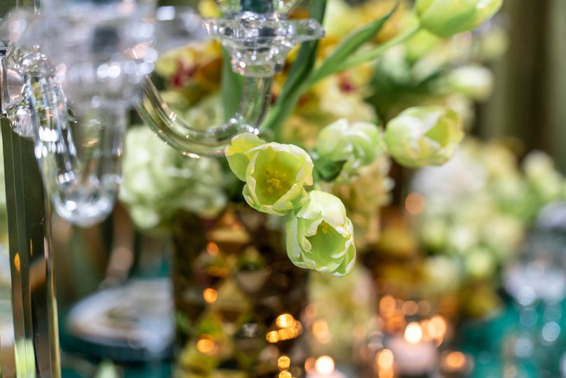 Floral and crystal details