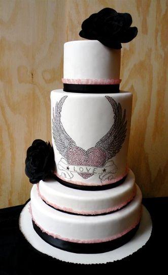 Winged Heart (fake) Wedding Cake
