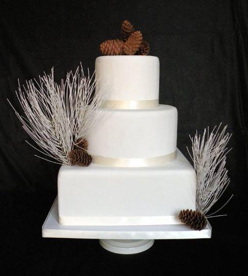 White pine (fake) wedding cake