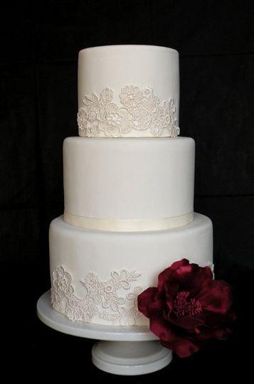 Venetian Lace (fake) Wedding Cake
