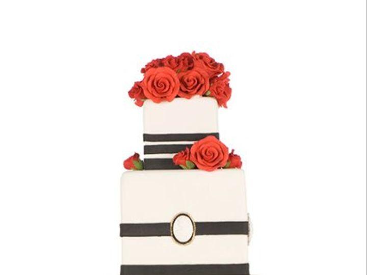 Tmx 1264020545204 BlackandRed New York wedding cake