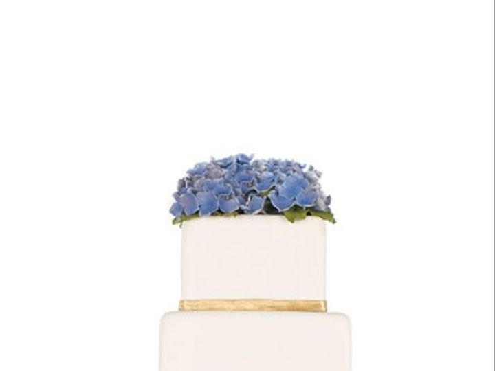 Tmx 1264020844188 BlueHydranga New York wedding cake