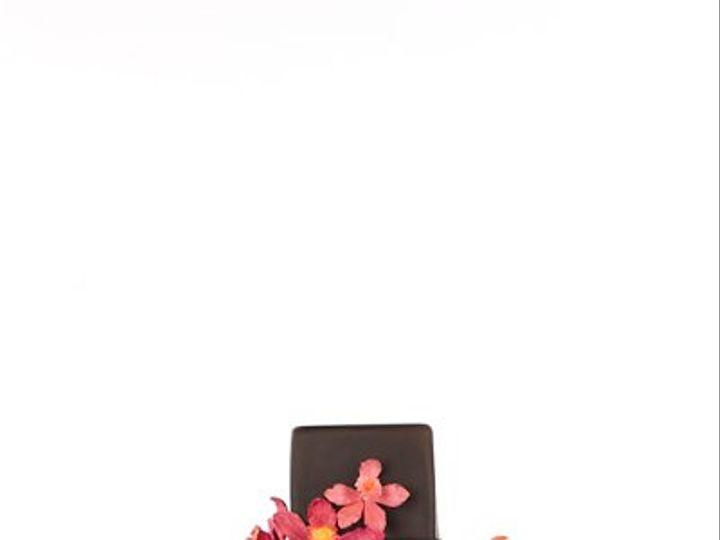 Tmx 1264024551657 TropicalOrchidChocolate New York wedding cake