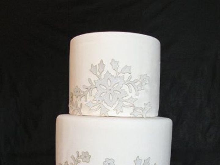Tmx 1297972490812 FrostedWinterFlowersFakeWeddingCake New York wedding cake