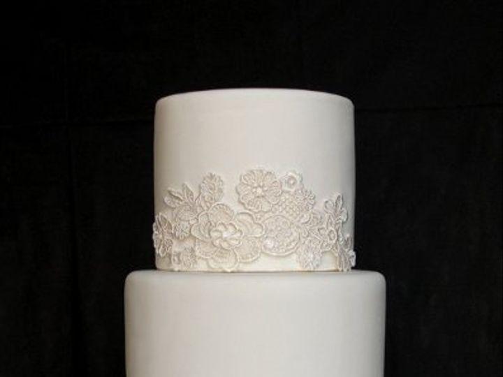 Tmx 1297972895328 VenetianLaceFakeWeddingCake New York wedding cake