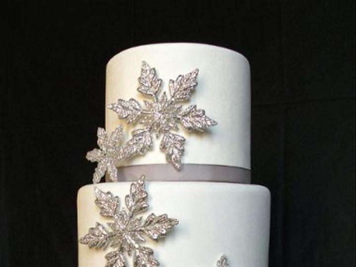 Tmx 1297973030249 SilverSnowflakeFakeWeddingCake New York wedding cake