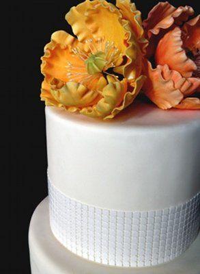 Tmx 1297974229828 PeoniesWhiteFakeWeddingCakeDetail New York wedding cake