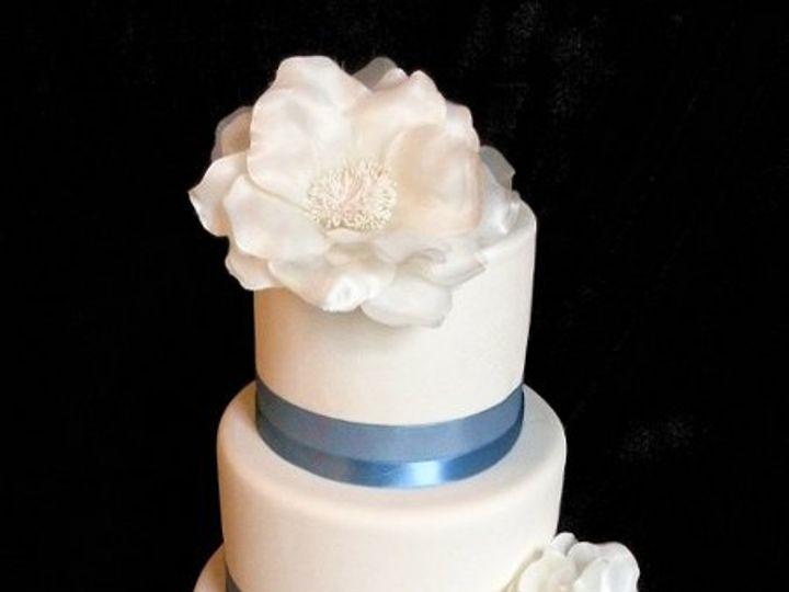 Tmx 1297974368546 ModernClassicFakeWeddingCakeinBlue New York wedding cake