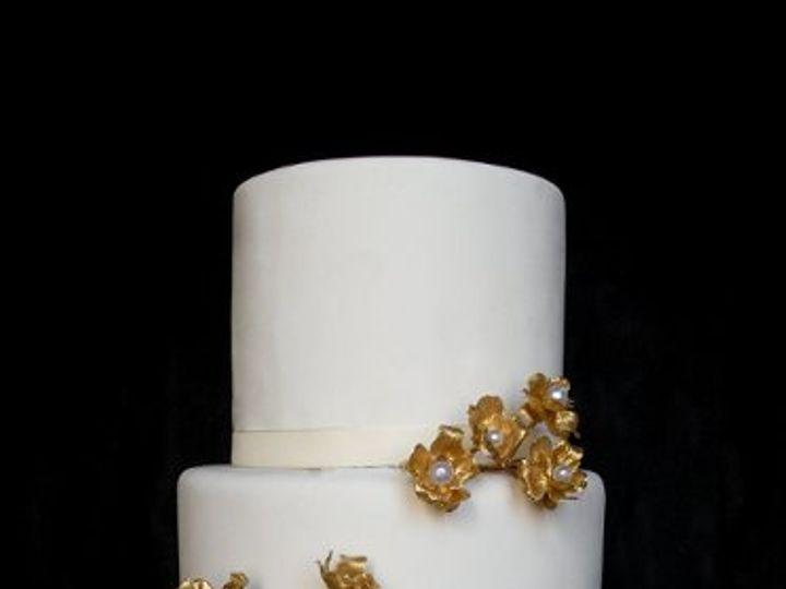Tmx 1297974438093 GoldenFlowersFakeWeddingCake New York wedding cake