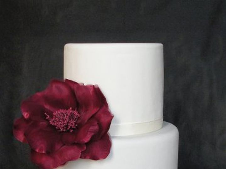 Tmx 1297974549531 BurgundyandIvoryFakeWeddingCake New York wedding cake