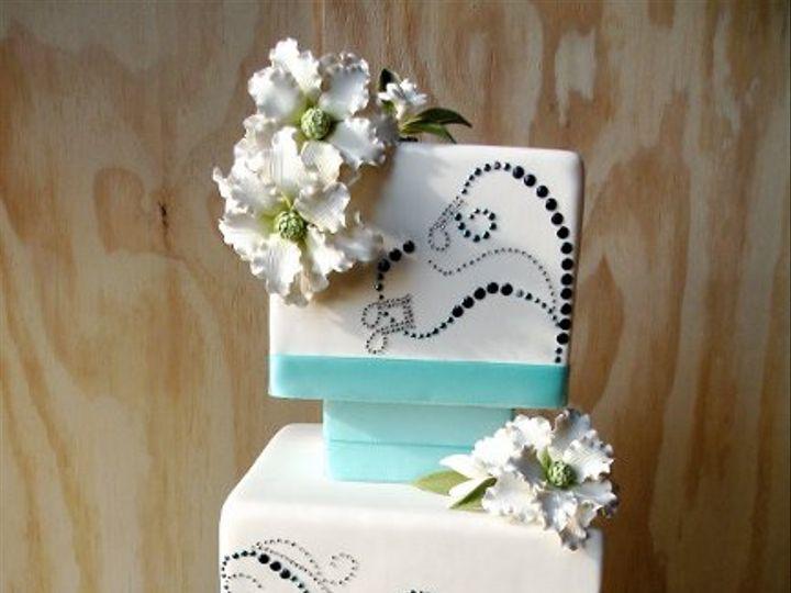 Tmx 1297974584531 BlueWaveFakeWeddingCakev1 New York wedding cake