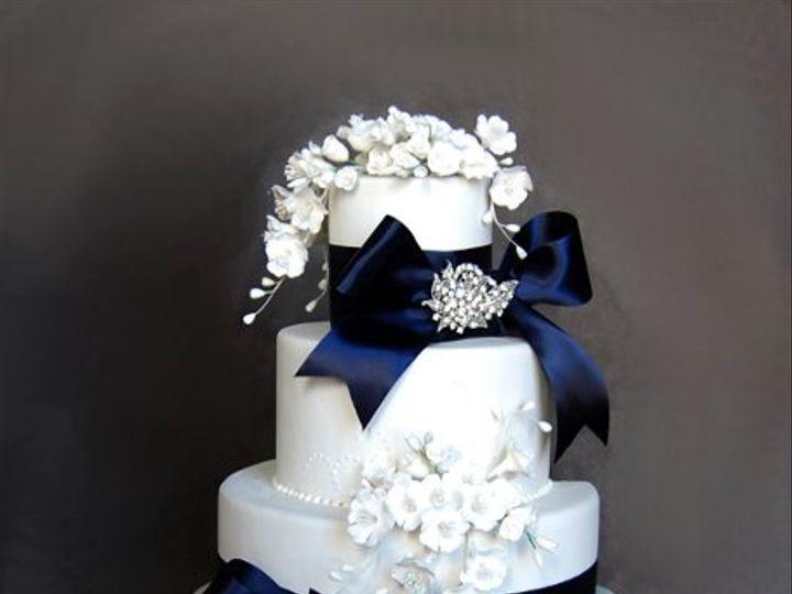 Tmx 1297974667718 BlueBowsBlingWeddingCakeRental New York wedding cake
