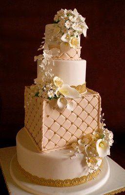 Tmx 1297974711656 CallaLilliesandEmbossedFondantWeddingCakerental New York wedding cake
