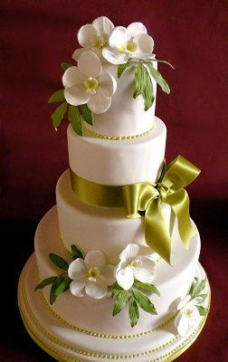 Tmx 1297974845749 SpringGreenOrchidWeddingRentalCake New York wedding cake