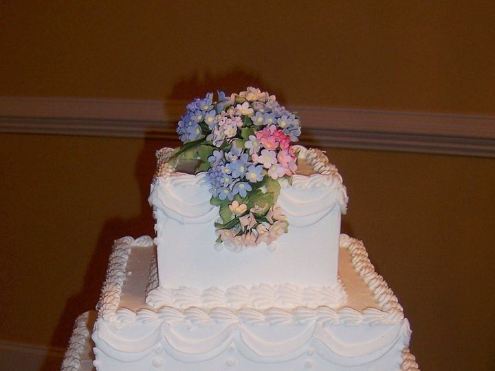 Tmx 1354298229665 3TierWeddingCakewithFlowersedited Glyndon, MD wedding catering