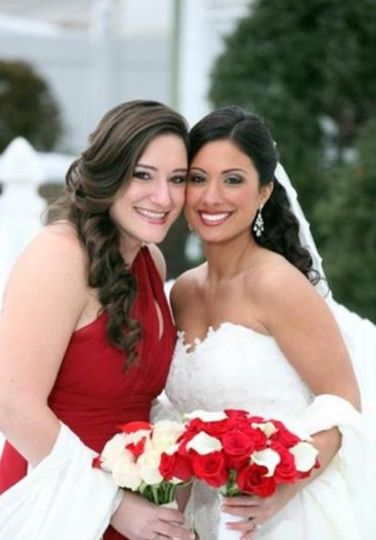 The bride and the maid of honor