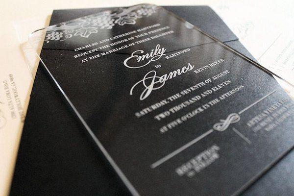 Engraved Acrylic Invitations